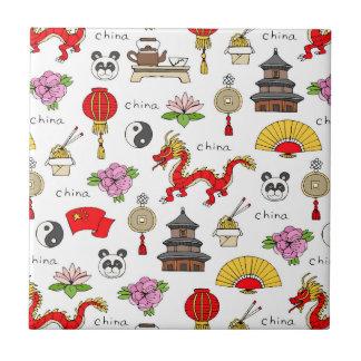 China Symbols Pattern Tile