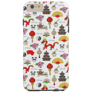 China Symbols Pattern Tough iPhone 6 Plus Case