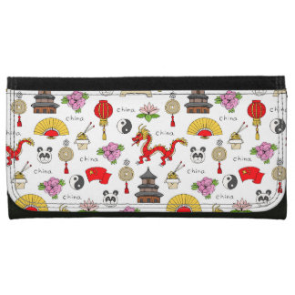 China Symbols Pattern Wallet