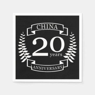 China Traditional wedding anniversary 20 years Napkin