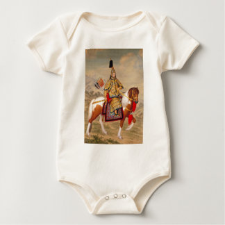 China's Qianlong Emperor 乾隆帝 in Ceremonial Armour Baby Bodysuit