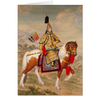China's Qianlong Emperor 乾隆帝 in Ceremonial Armour Card