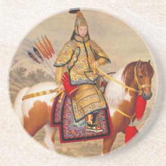 China's Qianlong Emperor 乾隆帝 in Ceremonial Armour Coaster