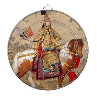 China's Qianlong Emperor 乾隆帝 in Ceremonial Armour Dartboard With Darts