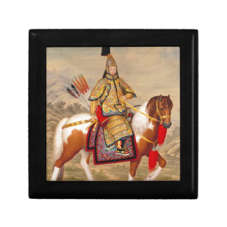 China's Qianlong Emperor 乾隆帝 in Ceremonial Armour Gift Box