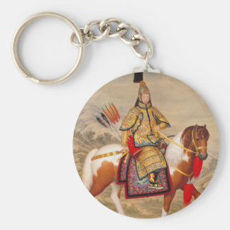 China's Qianlong Emperor 乾隆帝 in Ceremonial Armour Keychain