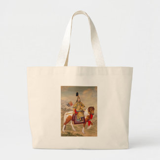 China's Qianlong Emperor 乾隆帝 in Ceremonial Armour Large Tote Bag