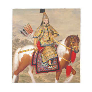 China's Qianlong Emperor 乾隆帝 in Ceremonial Armour Notepad