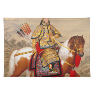 China's Qianlong Emperor 乾隆帝 in Ceremonial Armour Placemat