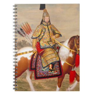 China's Qianlong Emperor 乾隆帝 in Ceremonial Armour Spiral Notebooks
