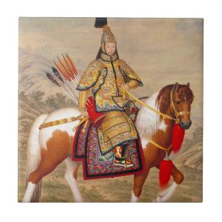 China's Qianlong Emperor 乾隆帝 in Ceremonial Armour Tile