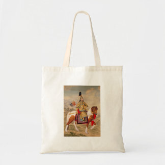 China's Qianlong Emperor 乾隆帝 in Ceremonial Armour Tote Bag