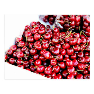 Chinatown red cherries San Francisco California Postcard