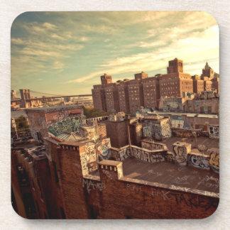 Chinatown Rooftop Graffiti Coaster