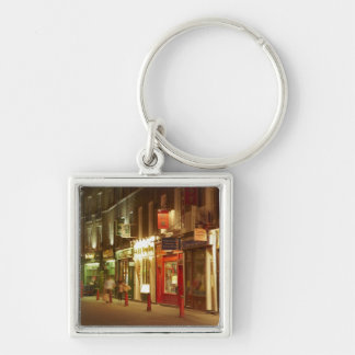 Chinatown, Soho, London, England, United Kingdom Silver-Colored Square Keychain