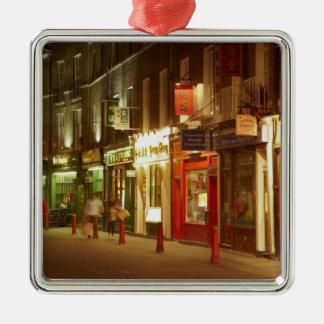 Chinatown, Soho, London, England, United Kingdom Silver-Colored Square Ornament