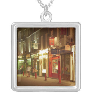 Chinatown, Soho, London, England, United Kingdom Square Pendant Necklace