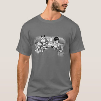 ChinChatComics Zombie Attack Chinchillas T-Shirt
