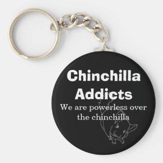 Chinchilla Addicts, We are powerless... Keychain