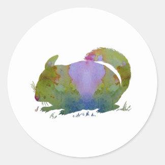 Chinchilla Classic Round Sticker