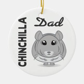 Chinchilla Dad Ornament