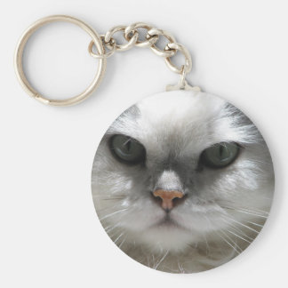 Chinchilla Persian Cat Keychain