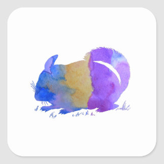 Chinchilla Square Sticker