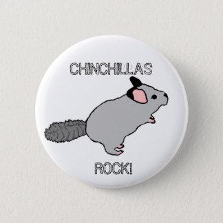 CHINCHILLAS ROCK! 2 INCH ROUND BUTTON