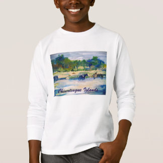 Chincoteague Island Horse Painting Sweatshirt