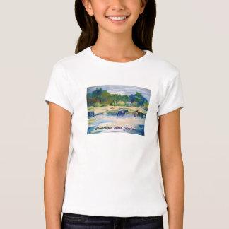 Chincoteague Island Horse Painting T-Shirt
