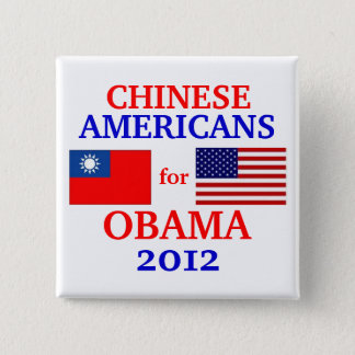 Chinese Americans for Obama 2 Inch Square Button