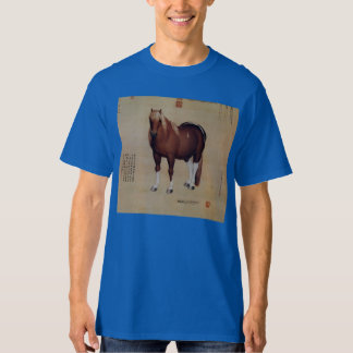 Chinese Ancient Papyrus With Horse Painting T-Shirt