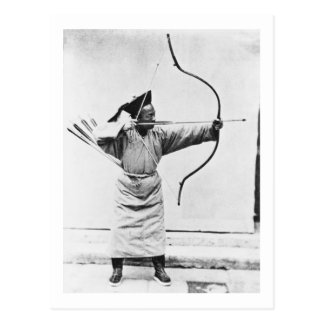 Chinese archer, c.1870 (b/w photo) postcard