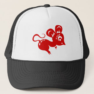 Chinese Astrology Rat Illustration Trucker Hat