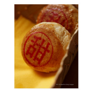 Chinese bean paste pastry with Chinese character Postcard