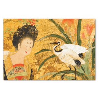 Chinese Beauty and the Crane 10lb Tissue Paper