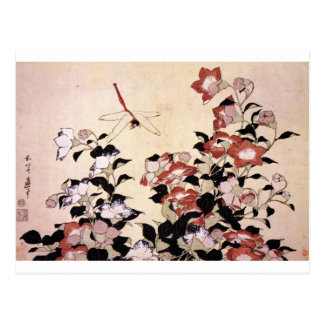 Chinese Bell Flower and Dragonfly Postcard