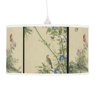 Chinese Birds Flowers Wildlife Animal Hanging Lamp
