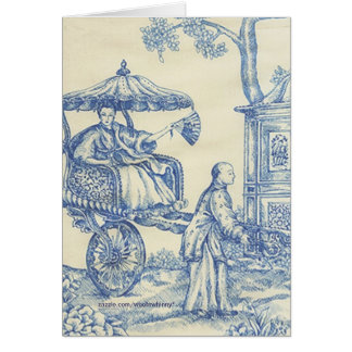 Chinese Blue Toile Card