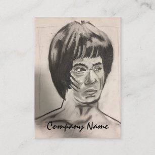 Chinese Boxer Art Sketch Business Card