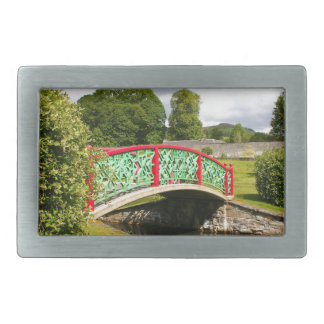 Chinese bridge, gardens, Scotland Belt Buckles