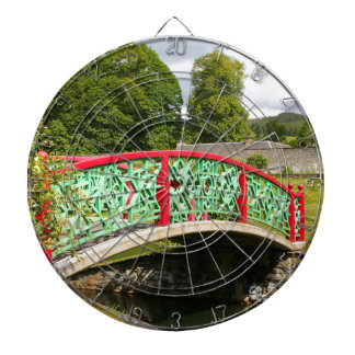 Chinese bridge, gardens, Scotland Dartboard