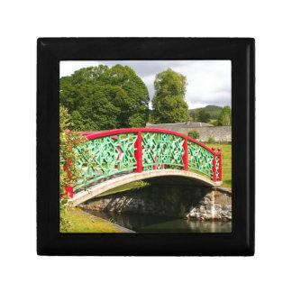 Chinese bridge, gardens, Scotland Gift Box