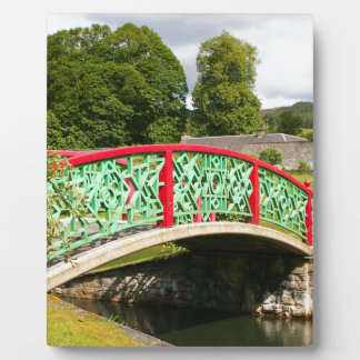 Chinese bridge, gardens, Scotland Plaque