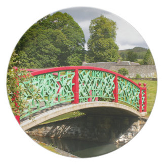 Chinese bridge, gardens, Scotland Plate