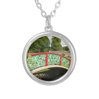 Chinese bridge, gardens, Scotland Silver Plated Necklace