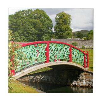 Chinese bridge, gardens, Scotland Tile