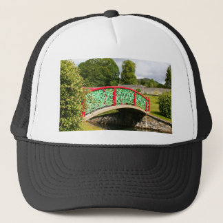 Chinese bridge, gardens, Scotland Trucker Hat