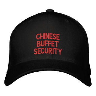 CHINESE BUFFETSECURITY EMBROIDERED HAT