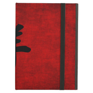 Chinese Calligraphy Symbol for Goat in Red iPad Air Cases